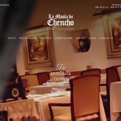 Diseño web Alicante Elche La Masía de Chencho