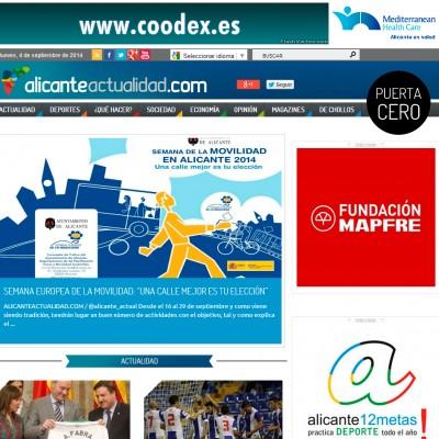 diseño de páginas web en alicante: alicante actualidad - coodex