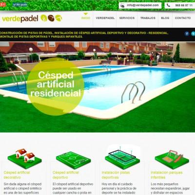 Diseño de páginas web en Alicante: Verdepadel