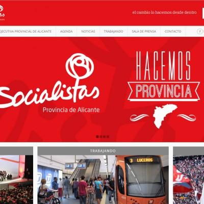 diseño de páginas web en alicante: socialistas provincia de